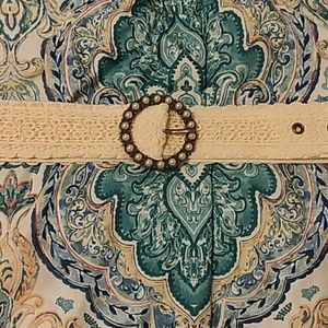 Lace and Faux Pearl Belt